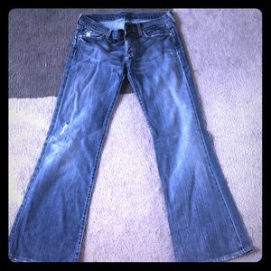For All Mankind wide leg jeans